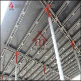 Datilografar a B os feixes de apoio de aço do molde da laje de cimento
