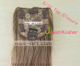 Brown Hair Color Silk Top Closure / juif Kosher Topper / Hair Wigs