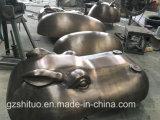 Sculpture noire en tête d'hippopotame d'or, Blacksmithing de cuivre, décoration extérieure de jardin