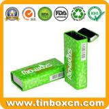Rechteckiger eingehängter Zinn-Kasten, Gummi-Blechdose, Metalltadelloser Behälter