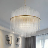Muito Popular Luxo Post Modern Home / Hotel Restaurante LED G9 Clear Crystal Pendant Light Chandelier