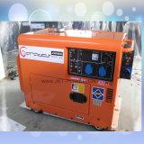 Luftgekühlter schalldichter elektrischer kleiner leiser Dieselgenerator der Reserveleistungs-5kVA