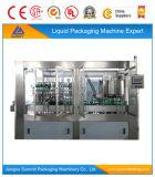 Poder de aluminio de las bebidas no alcohólicas carbónicas que llena y que cose la máquina monobloque