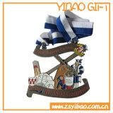 Die Casting plata antigua plateado medalla de recuerdo (YB-MD-10)