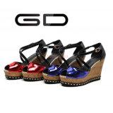 Gdshoe ha personalizzato i cunei di legno del tallone dei pattini di pelle verniciata