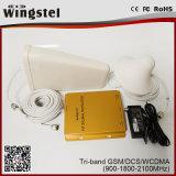 2016 tri venda 900 de la venta 2g 3G 4G del aumentador de presión móvil caliente de la señal 1800 2100MHz con la antena