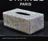 Hand - de gemaakte Houder van het Vakje van het Papieren zakdoekje van het Kristal van het Bergkristal van de Diamant Diamante (topaas tb-011)