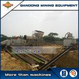 Línea aluvial de la explotación minera de la alta de la recuperación de la gravedad planta aluvial del oro