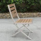 Restaurante de dobramento de alumínio ajustado de Testilene da mobília do jardim do pátio que janta a cadeira para a venda
