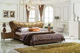 새로운 우아한 디자인 침실을%s 현대 진짜 가죽 침대 (HC1213)