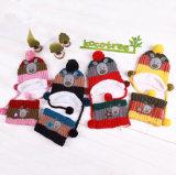 겨울을%s 아이들의 모자 스카프 세트가 2016 새로운 형식에 의하여 뜨개질을 했다