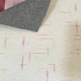 Panno morbido di lana a doppia faccia controllato lineare per i cappotti delle donne