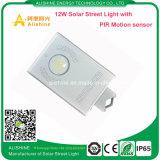 luz de calle solar toda junta de 12watts LED con el sensor de movimiento de PIR
