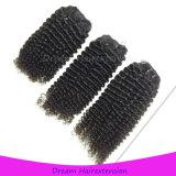 Отсутствие путать отсутствие линяя Unprocessed Kinky курчавых волос