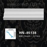 PU de la cornisa del poliuretano que moldea el moldeado de corona de la PU Hn-85138