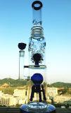 tubo di acqua di fumo di vetro di Perc del Birdcage della sfera del favo di 18inch 5thickness