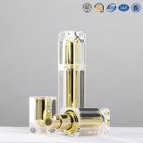 frasco de empacotamento cosmético luxuoso quadrado acrílico plástico da alta qualidade de 15ml 30ml 50ml 80ml
