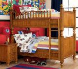 Cama de beliche americana das crianças da cama de beliche da madeira contínua do estilo (M-X1004)