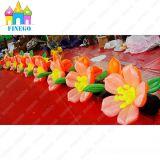 Stadiums-Dekoration, die aufblasbare Rosen-Dekoration-aufblasbare Blumen-Kette Wedding ist