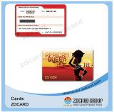 Напечатанные визитные карточки PVC черные ясные пластичные