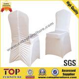 スパンデックスの伸張のLycraの白い結婚式の椅子カバー