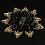 Da cabeça leve dos cervos do diodo emissor de luz da bateria dos cervos luz clara decorativa da corda