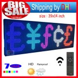 "Télécommande Affichage LED programmable Défilement message Outdoor LED Sign Ouvert 7 Couleur 39 ""X14"" Inch LED Broard d'écran"
