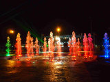 Fontaine musicale carrée avec des éclairages LED pour le Semi-Marathon au Congo