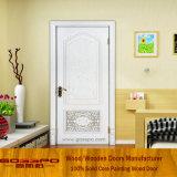 Porta natural da madeira contínua do carvalho da pintura branca (GSP2-074)
