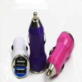 De mini Dubbele Lader van de Auto van de Kogel USB voor Smartphones