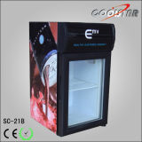 Único Showcase Refrigerating de vidro Frasco-Armazenado colorido (SC21B)
