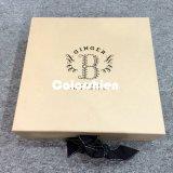Boîte-cadeau se pliante d'or de papier classique d'emballage de Cosmtic