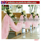 Produtos cor-de-rosa brilhantes do partido de Tulle do favor do banquete de casamento da decoração do casamento (W1015)