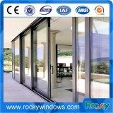 Doppi portelli scorrevoli su ordinazione di alluminio di vetro, porte a battenti, portelli di piegatura, portelli della stoffa per tendine