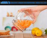 Atolamento & conserva quadrados da forma que fazem o frasco de vidro da parte superior do grampo