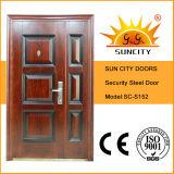 Indische Art-Tür-Stahltür mit Fenster-Entwurf (SC-S092)