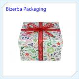 Rectángulo de regalo de empaquetado de papel de la Navidad de encargo