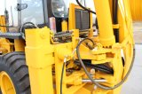 4WD Compact Hydraulic Joystick 2.5ton Backhoe Loader mit Cummins Engine