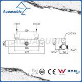 Válvula de ducha termostática del mezclador de la barra redonda del cromo del cuarto de baño (AF4313-7)