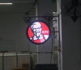 La DEL enregistrent le drapeau de publicité électronique du logo DEL