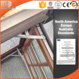 Ventana de aluminio del marco de madera sólida de Clading del surtidor de China con el final de la capa/del fluocarbono/madera del polvo de grano