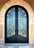 전통적인 낮은 E 유리제 주거 철 문을%s 가진 디자인에 의하여 나이 드는 청동