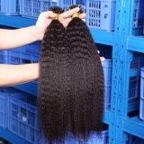引かれるケラチンの棒の先端のRemyの融合の毛の拡張倍私は人間の毛髪の拡張1g繊維のねじれたまっすぐなバージンの毛をひっくり返す