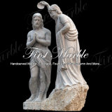 Battesimo bianco di Carrara della statua della statua di pietra di marmo del granito della statua Ms-909 del Jesus