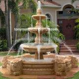 Egípcio Creme Mármore Stone Sculpture Water Fountain (SY-F028)