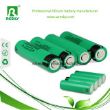 cellule de batterie au lithium de 3.7V 2200mAh 18650 pour l'éclairage LED