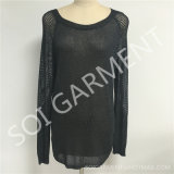 Новый способ повелительниц выдалбливая длиннюю кофточку свитера (SOI1774)