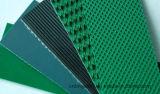 El ceñir de PVC verde/blanco/azul/negro de la banda transportadora del PVC