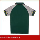 Camisas de polo suaves modificadas para requisitos particulares de los niños del algodón de la alta calidad (P169)