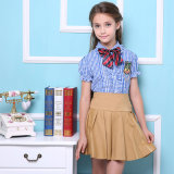 Nouveau design 100% coton Custom Made International Primary School Uniforms